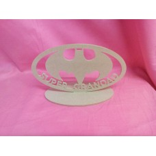 4mm thick MDF Super Grandad bat plaque